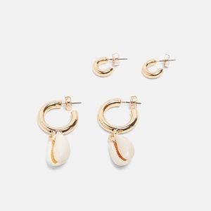 Zara Pack of seashells earrings set